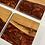 Thumbnail: Cherry hardwood epoxy coaster set of 4