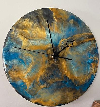 Epoxy art wall clock