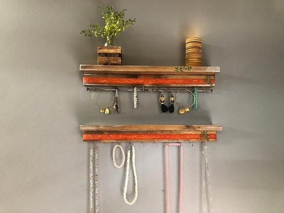 Epoxy Jewelry Hanger with Shelf Set