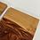 Thumbnail: Cherry hardwood and epoxy coaster set of 4