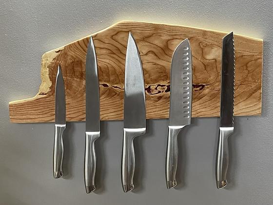 Live edge river birch magnetic knife rack