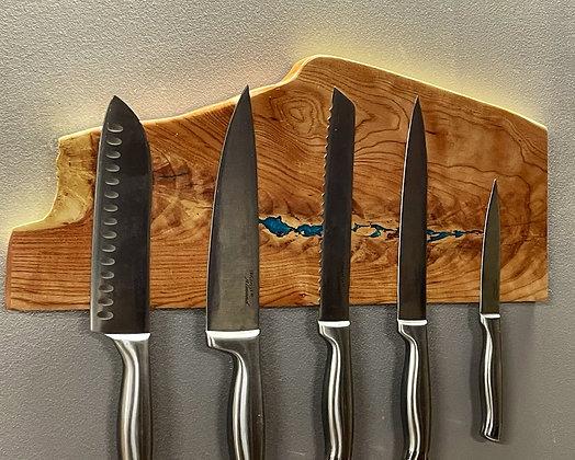 Live edge magnetic knife rack