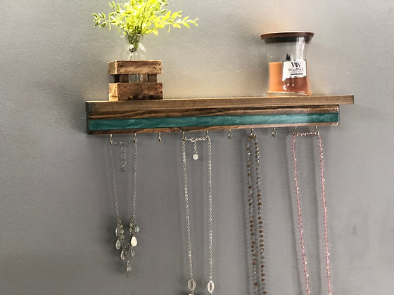 Epoxy Jewelry Hanger with Shelf