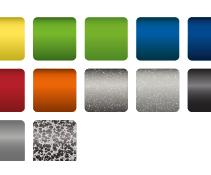 Les couleurs du cadre du Xenon2