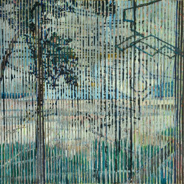 Crossings, 2020, oil on canvas, 62x82in