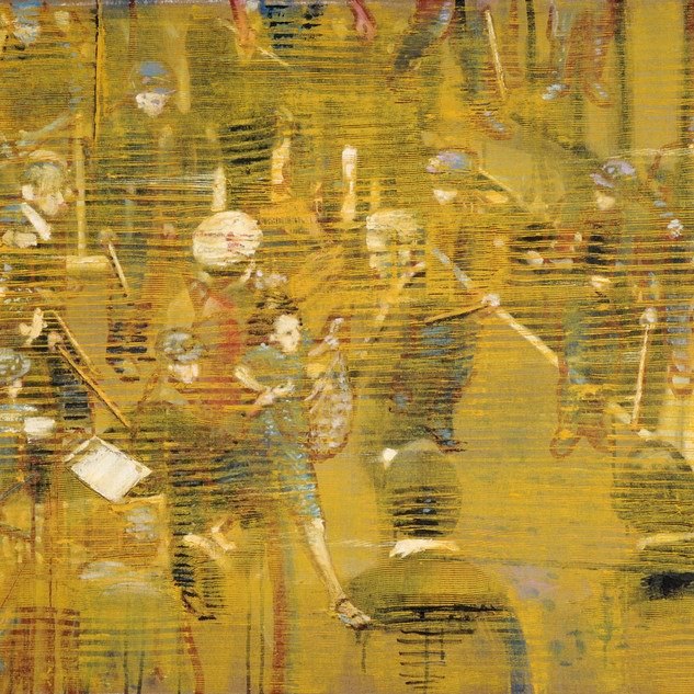 Untitled 1 (Golden Screen), 2015, oil on linen, 30x40in