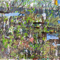 Untitled (Ruginoasa), 2020, acrylics on canvas, 9x12in