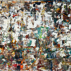 Remains, 2020, acrylics on canvas, 62x82in