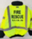 Luna Prints LLC custom coat sweatshirt screen print fire rescue jacket