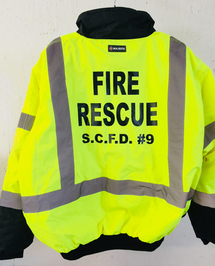 Luna Prints LLC custom coat sweatshirt screen print fire rescue jacket