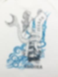 Luna Prints LLC custom t shirt silkscreen screen printing ship and mermaid design