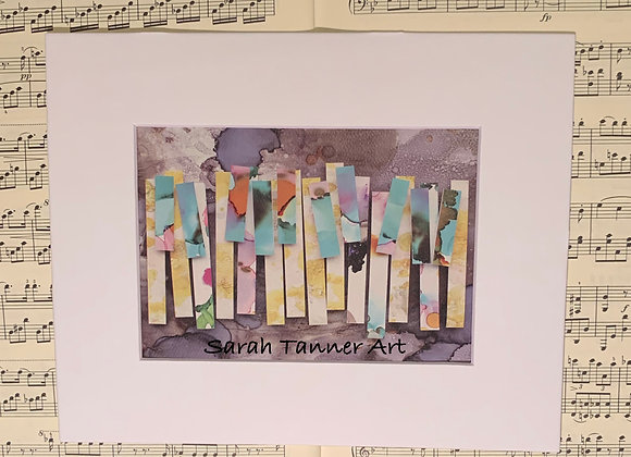 PRINT of PianoKeys-Monk