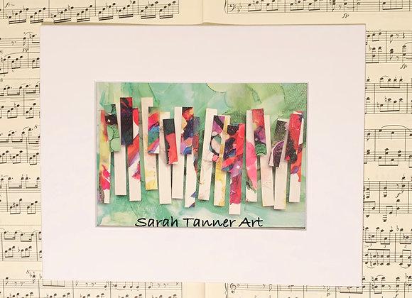PRINT of PianoKeys- Satie