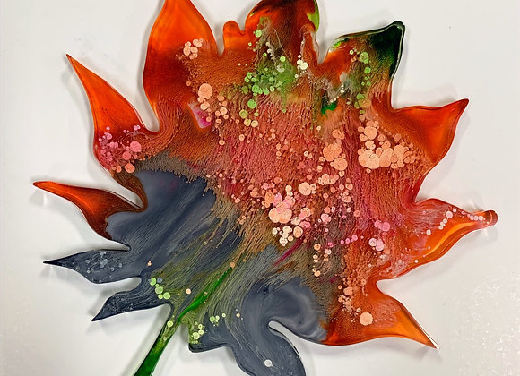 Maple Leaf Resin Art