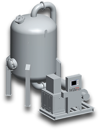 Single tower / vessel system to replace activated carbon for siloxane treatment / removal / reduction of landfill & digester biogas