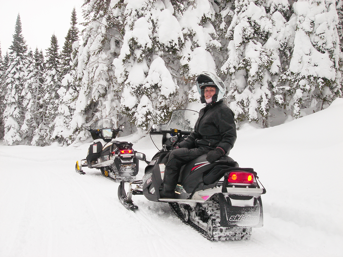Come for the snowmobiling