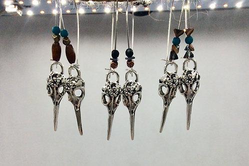 Crow earrings