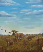 Elephants and Egrets