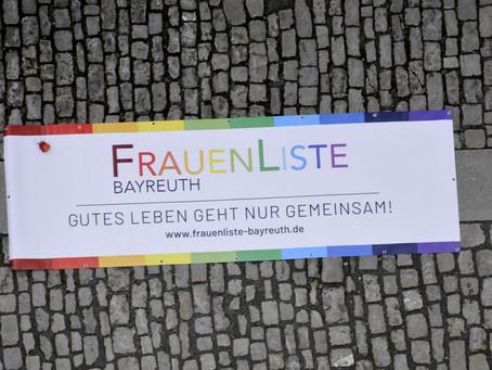 Frauenliste Bayreuth zieht in den Stadtrat ein!