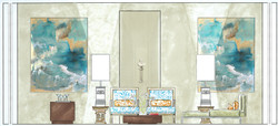 Rendered living room section