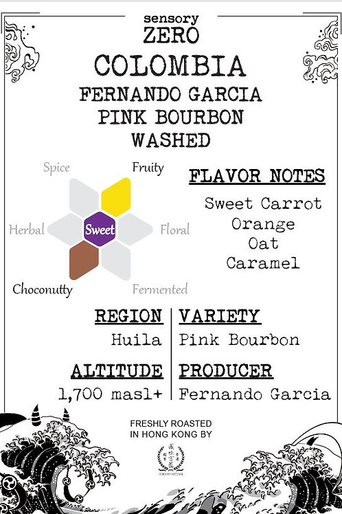 Colombia Fernando Garcia Pink Bourbon Washed (100g)