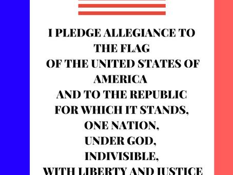 The Pledge of Allegiance Words Printable