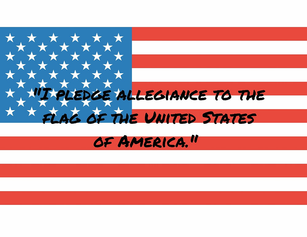 The- Pledge- of- Allegiance -Words- Flag- with- words