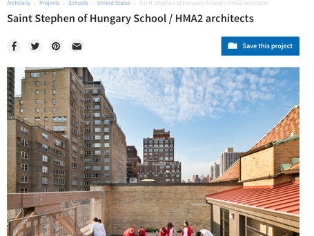 Saint Stephen of Hungary School / HMA2 architects featured in ArchDaily and Archello