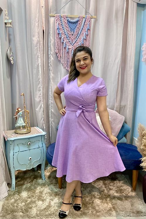 Vestido transpassado Olívia