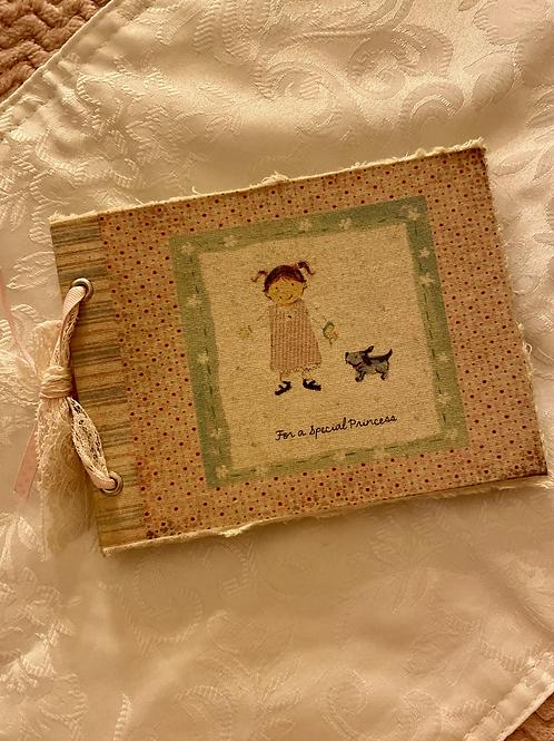 Caderno Decorativo Menina e Cão