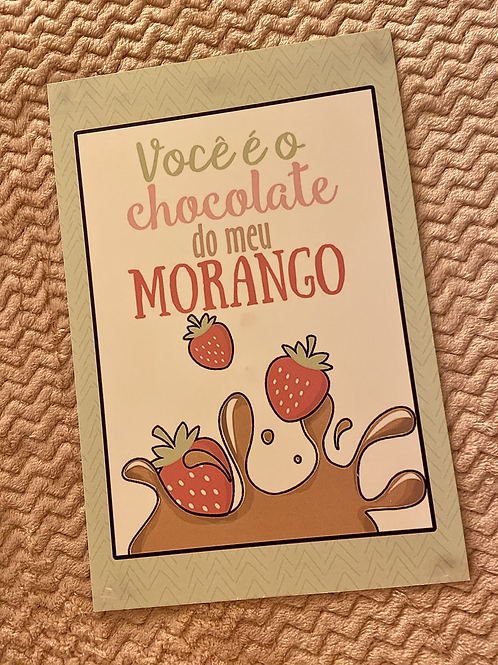 Placa Chocolate do Meu Morango
