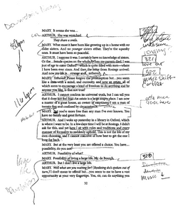 Script with Notes