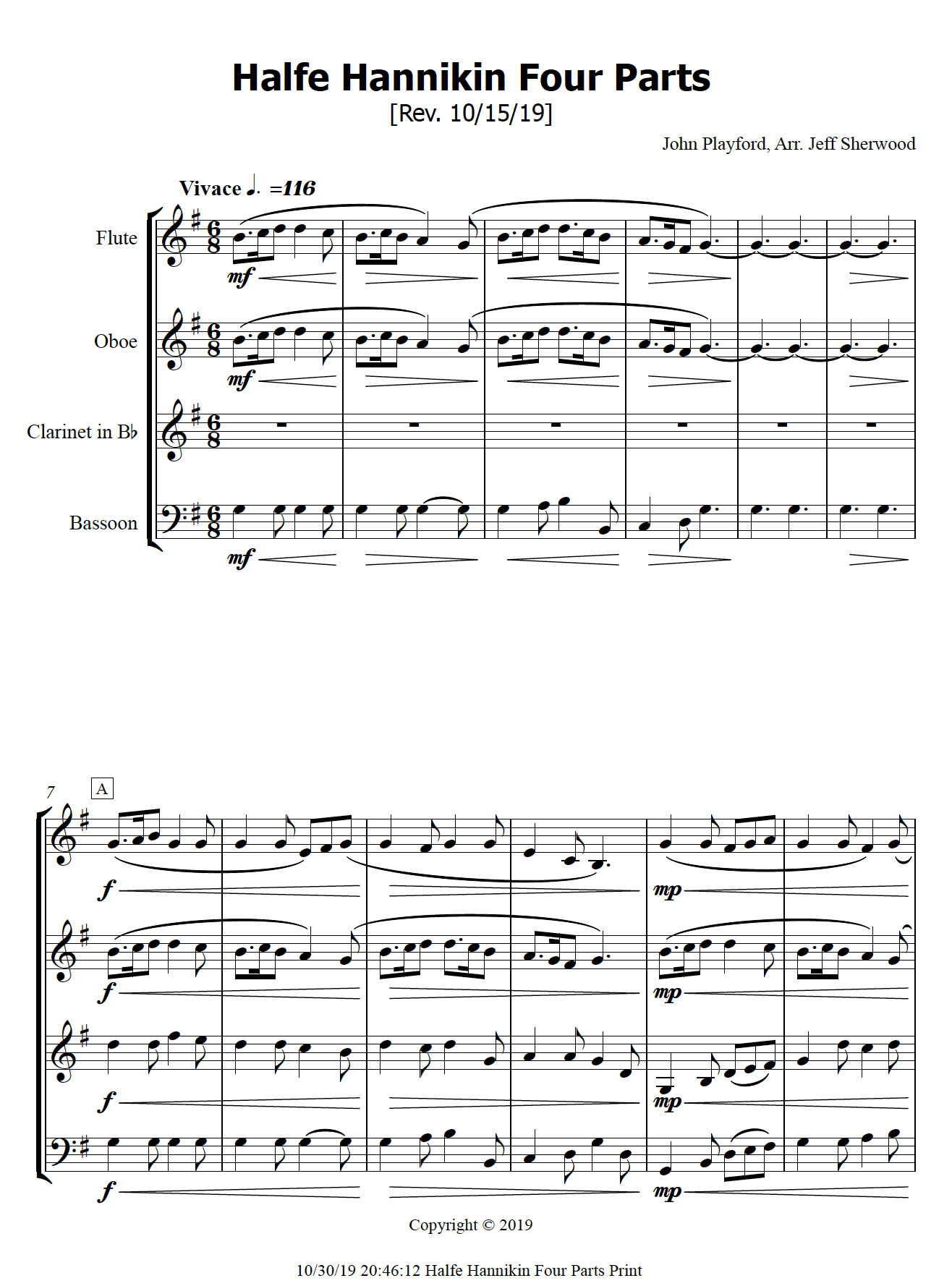 Halfe Hannikin Sheet Music