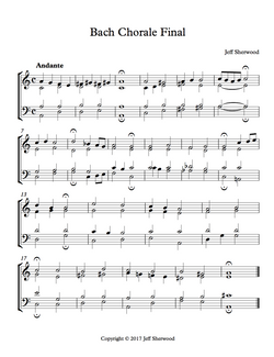 Bach Chorale Style Study