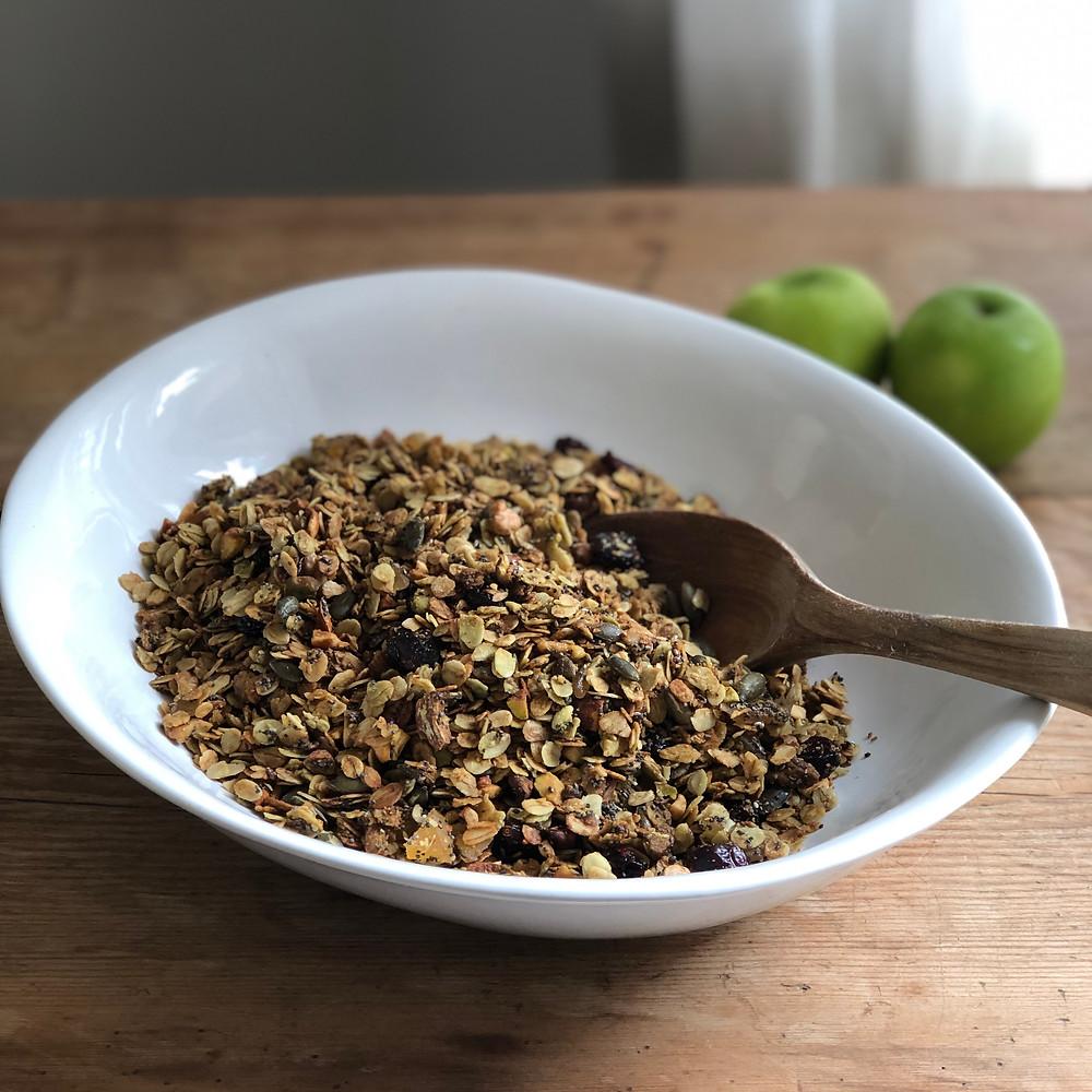Healthy bowl of granola