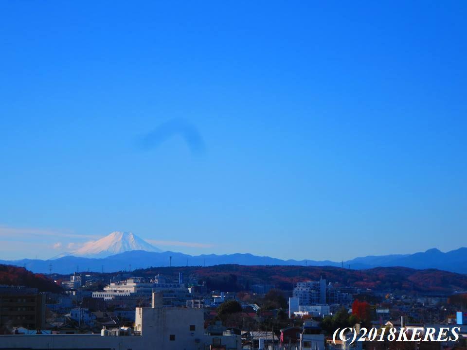 狭山市のマンションから見える富士山