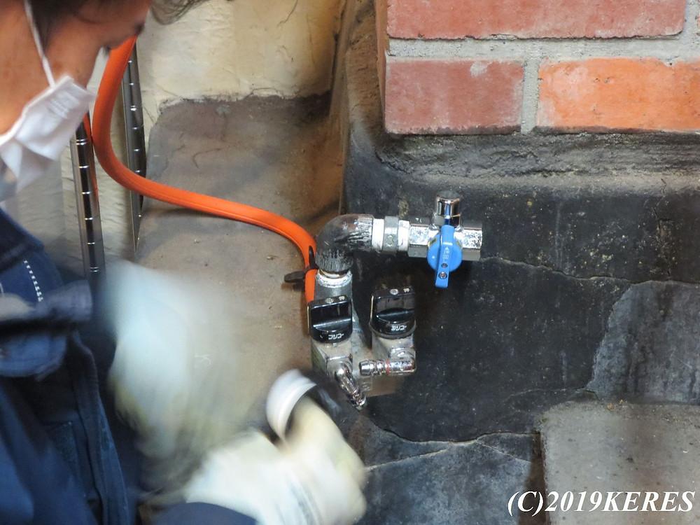 ガス栓工事