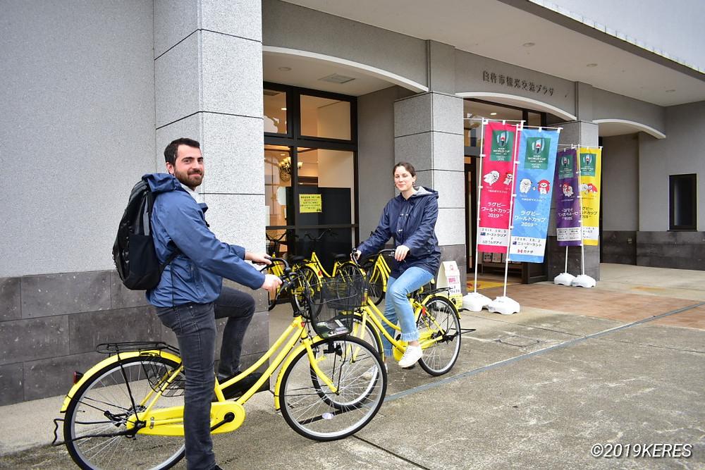 臼杵の無料レンタル自転車で観光