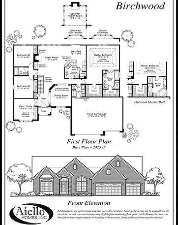 Birchwood Floor Plan_Aiello Homes
