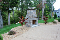 Custom Home Builder_Outdoor Fireplace