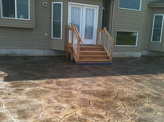 Custom Home Builder_Stamped Patio