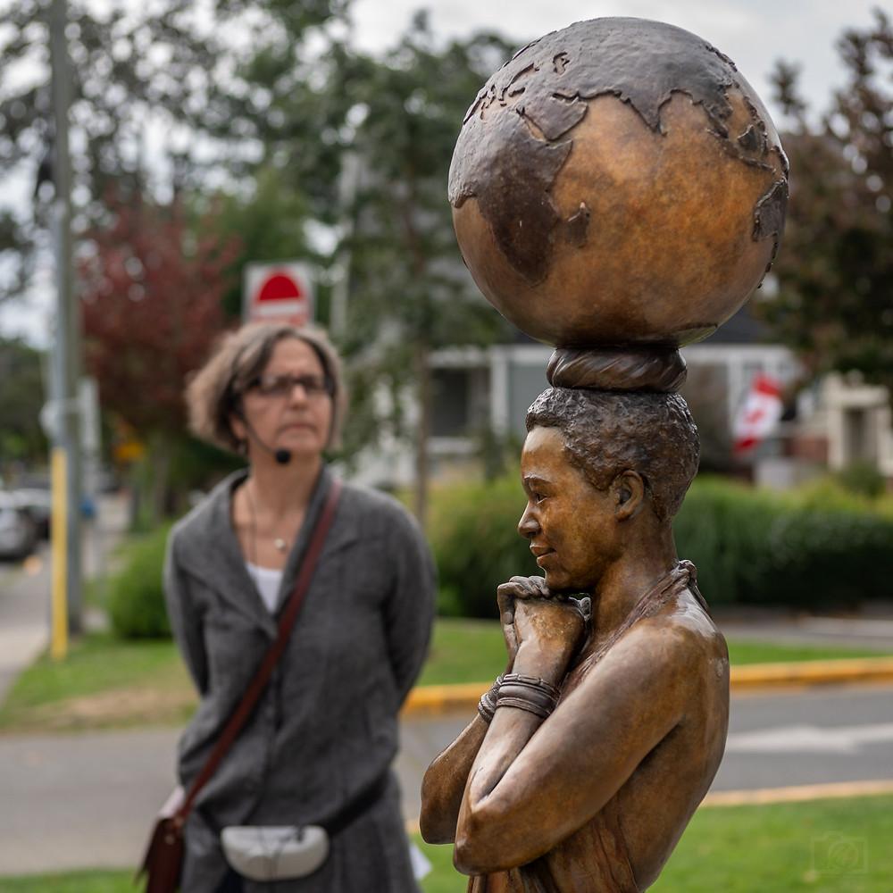 """Gisela Ruebsaat talking to """"'M'akhotso"""" Oak Bay Library GVPL"""