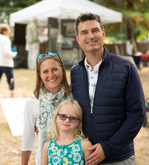 Kevin, Elizabeth, and daughter at Oak Bay BrushUp, Candidate for oak Bay Mayor