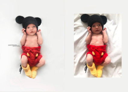 micky mouse newborn session pandemic