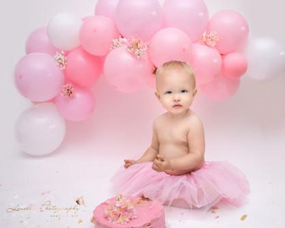 Louella Photography Newborn Cake Smash Older Baby