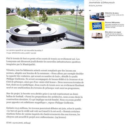 Construction du nouveau centre sportif à Lonay