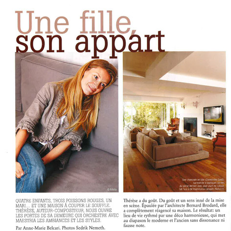 Marie Claire - Transformation d'un appartement à Lausanne