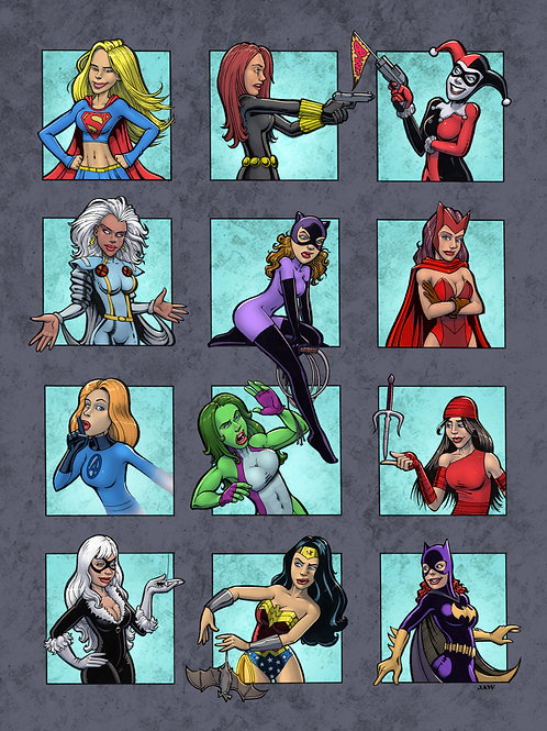 Superwomen outside the box