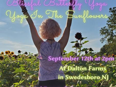 Sunflower Yoga Tomorrow!