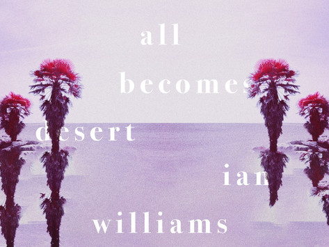 The new album from Ian Williams, All Becomes Desert, available from 5th March 2021